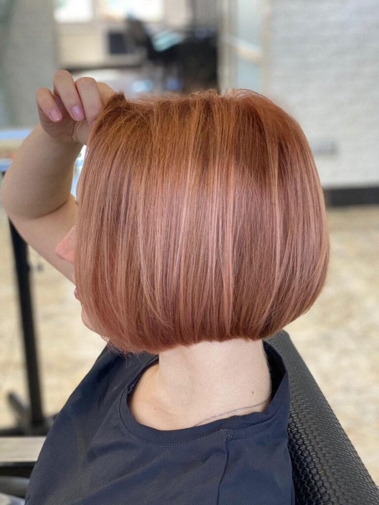 Окрашивание корней волос фото